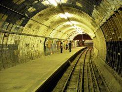 Aldwych Tube stotis, Londonas, Anglija