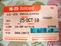 Traukinio bilietas. Ugnė Braitone