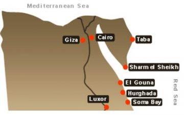Egipto kurortu zemelapis