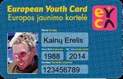 Nuolaidos su Europos Jaunimo kortele