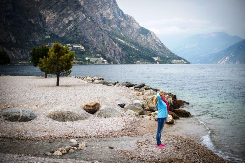 Limone Sul Garda miestelis Italijoje prie Gardos ežero