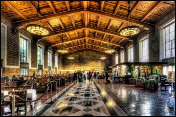 Los Andželo Union traukinių stotis, JAV