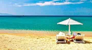 Rojaus paplūdimys, Mykonos, Graikija