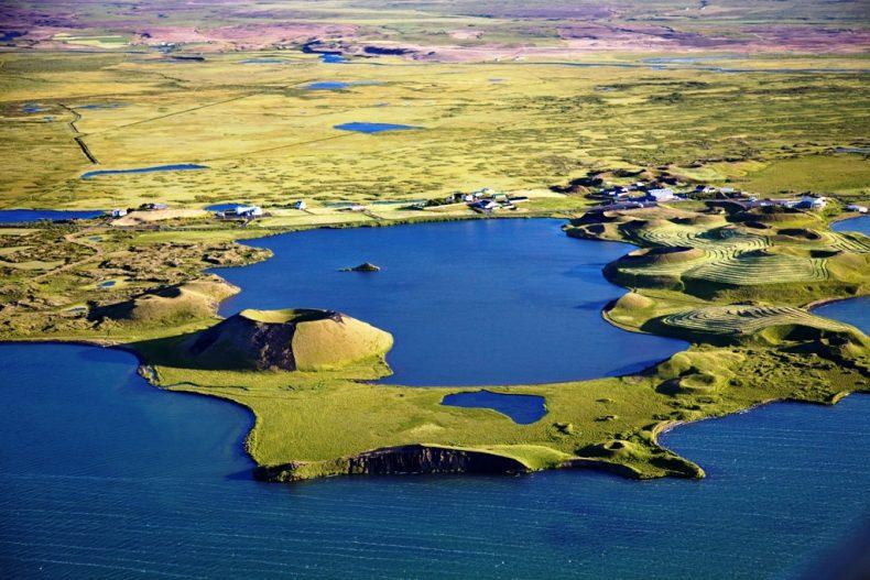 Myvatn ežeras Islandijoje