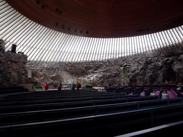 Bažnyčia Helsinkyje. Skandinavija