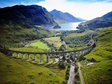 Hario Poterio filme matytas viadukas, Škotija