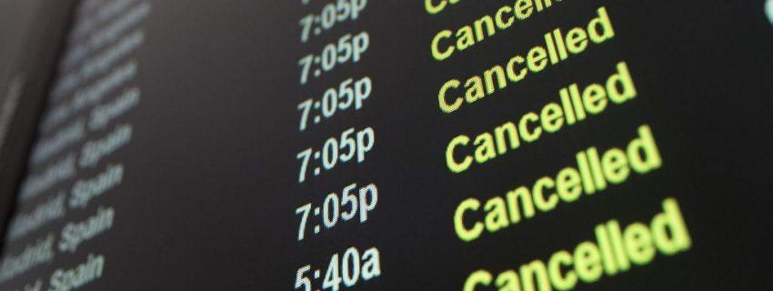 Apie atšauktus skrydžius ir keleivių teises