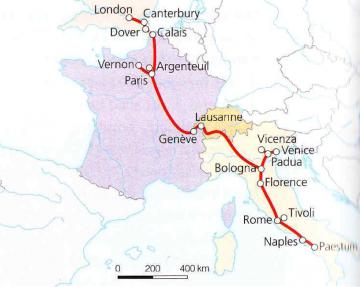 Didysis turas. Interrail žemėlapis