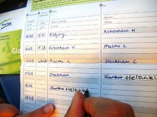 InterRail Pass bilieto pildymas