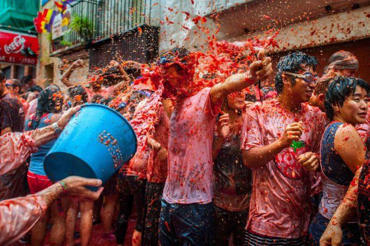 Keičiausi festivaliai ir šventės. Tomatina
