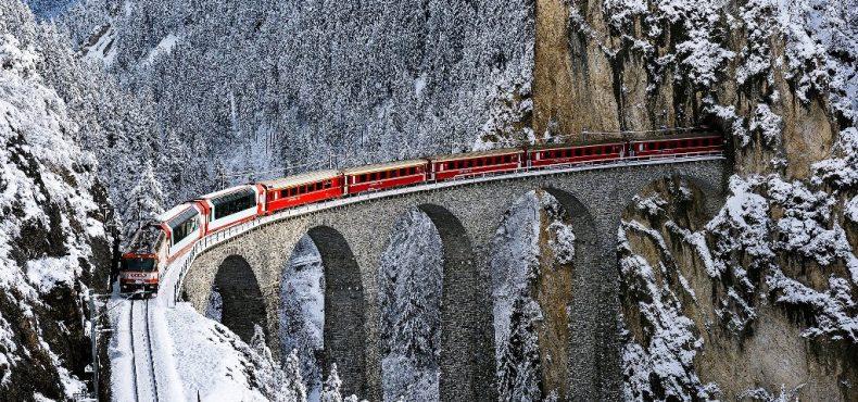 Kelionės traukiniu žiemą