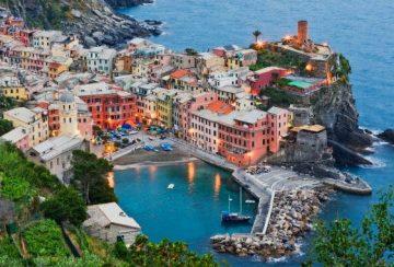 Cinque Terre pakrantė Italijoje