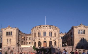 Oslas, Norvegijos parlamento rūmai (Stortinget)