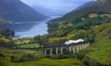 Traukiniu po Škotiją