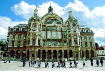 Traukinių stotis. Antwerp Central Station, Belgija