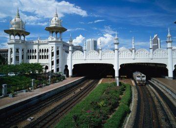Traukinių stotis. Kuala Lumpur Railway Station. Malaizija
