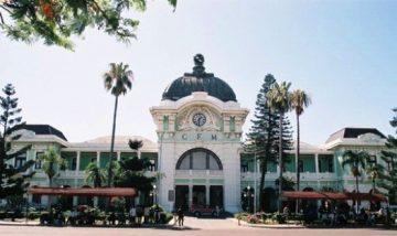 Traukinių stotis Maputo CFM Railway Station, Mozambique