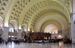 Traukinių stotis. Washington Union Station, USA