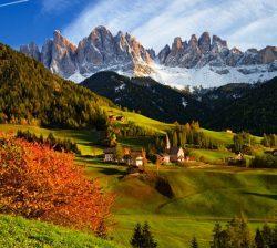 Traukiniu po Alpių viršūnes, Bolzano, Italija