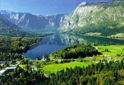 Traukiniu po Alpių viršūnes, Slovėnija, Bohinj