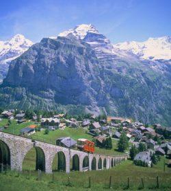 Traukiniu po Alpių viršūnes, Šveicarija