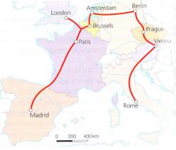 traukiniu_per_europos_sostines_zemelapis