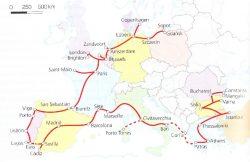 Traukinių maršruto po vaizdingus paplūdimius žemėlapis